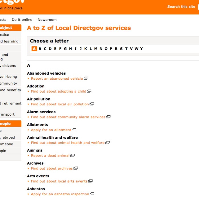 LocalDirectGov landing page