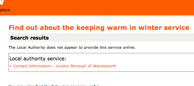LocalDirectGov no service