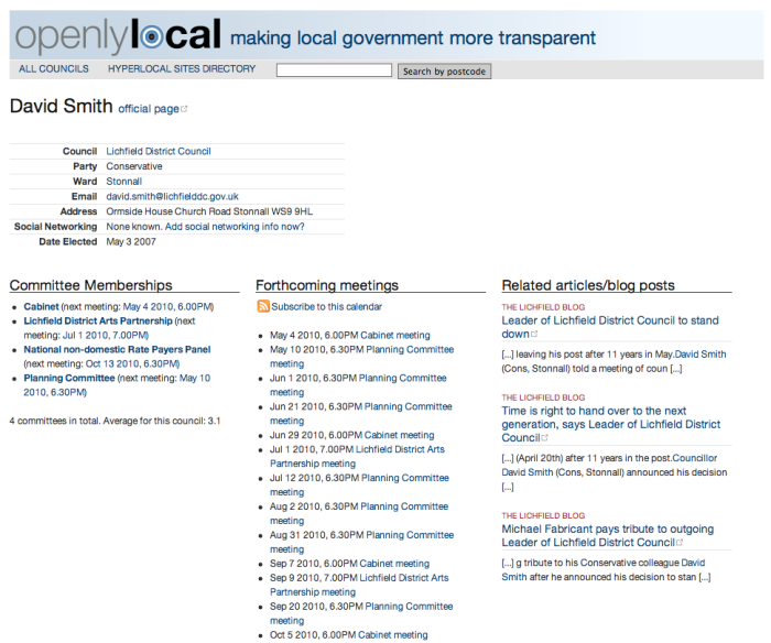 Related articles about councillors on OpenlyLocal